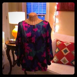 Silk Colorful Blouse